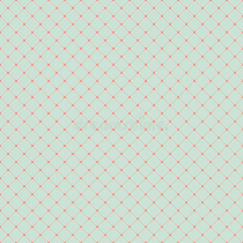 Simple background. Seamless simple vintage pattern with rounded squares vector illustration