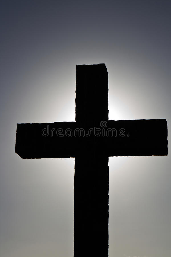 Download Simple backlit cross stock photo. Image of celebrate - 27308248