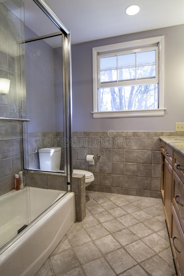 Simple bathroom remodel royalty free stock images