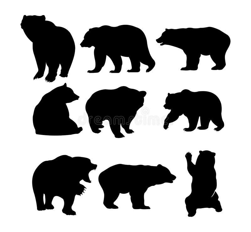 simple bear silhouette vector illustration logo design royalty free illustration