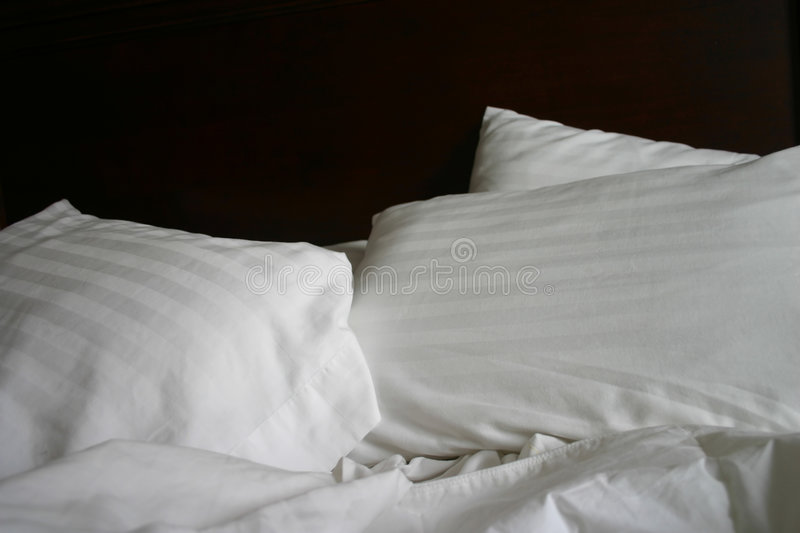 Simple Bed stock photos