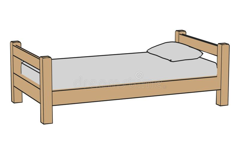 Simple bed stock illustration Illustration of child 35595312