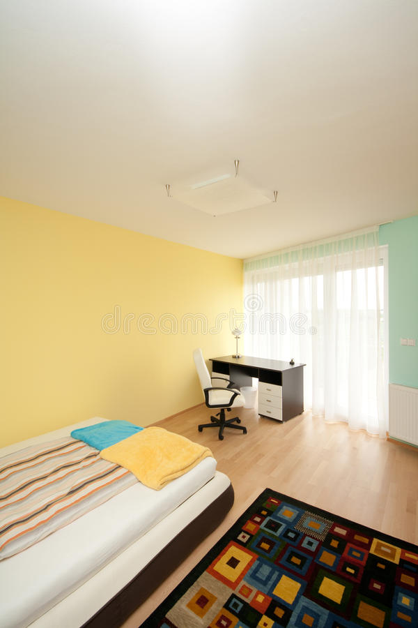 Simple bedroom stock photos