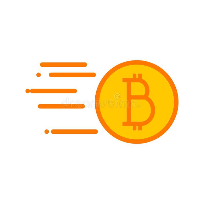 Simple Bitcoin Quick Sending Vector Illustration Graphic