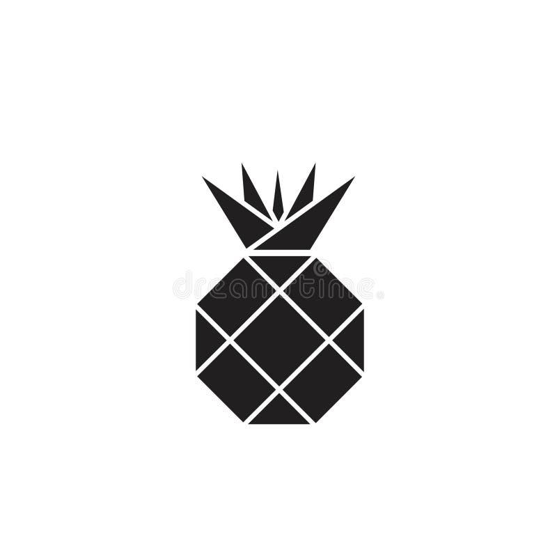 Simple Black Geometric Pineapple Logo Icon Clip Art ...