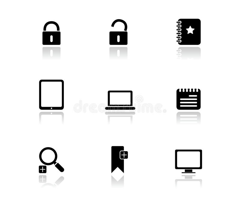Simple Black Icons - Internet 1 royalty free illustration