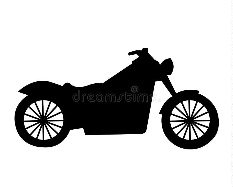 Simple Black Vintage Motorcycle Silhouette Stock Vector ...