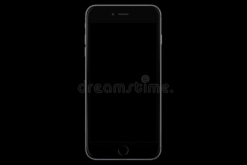 Black Model Of The Iphone 6s Plus Isolated On A Black Background Editorial Stock Photo Image Of Beautiful Created 149823548