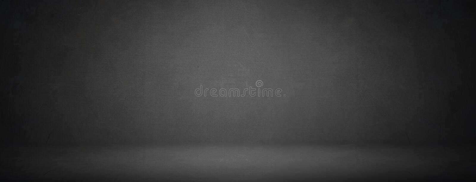 Simple black studio of chalkboard texture for showroom background stock photography