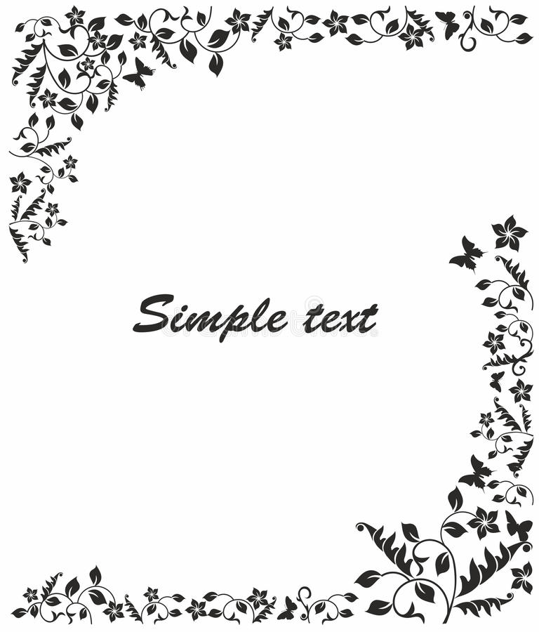 Simple Black And White Frame Stock Vector - Illustration of exterior ...