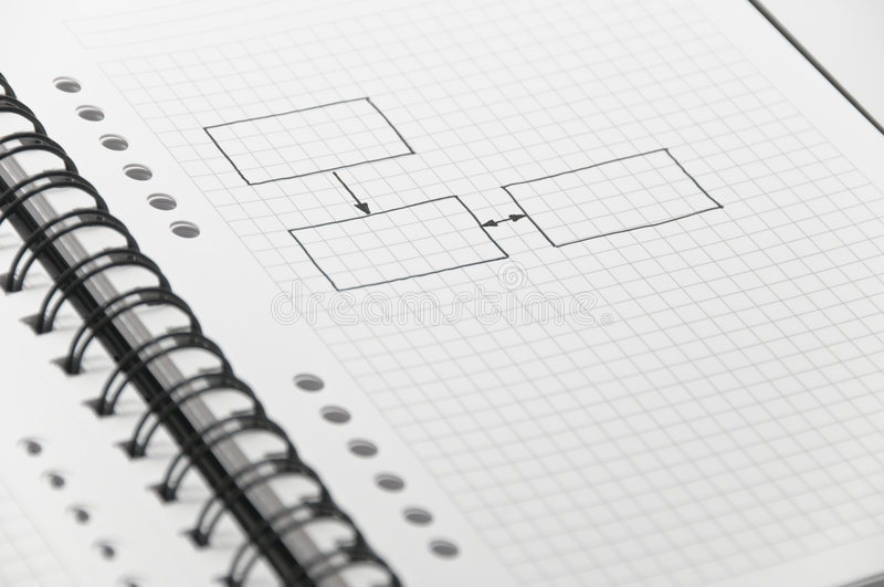 Download Simple Blank Chart Sketched On Notebook Stock Image - Image of diary, data: 8706729