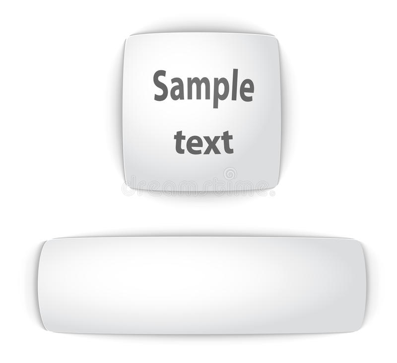 Download Simple  Blank Convex Web Buttons Stock Vector - Image: 21723119