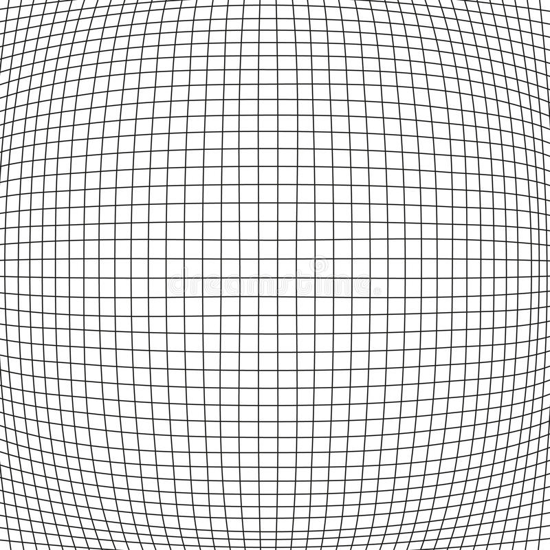 Simple bloat net background. Simple bulge net with black stripes on white background vector illustration