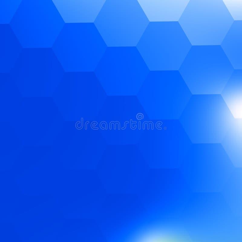 Simple Blue Geometric Background. White Light. Backdrop for Brochure Ad Website Internet Banner or Digital Tablet. For Cover. stock illustration