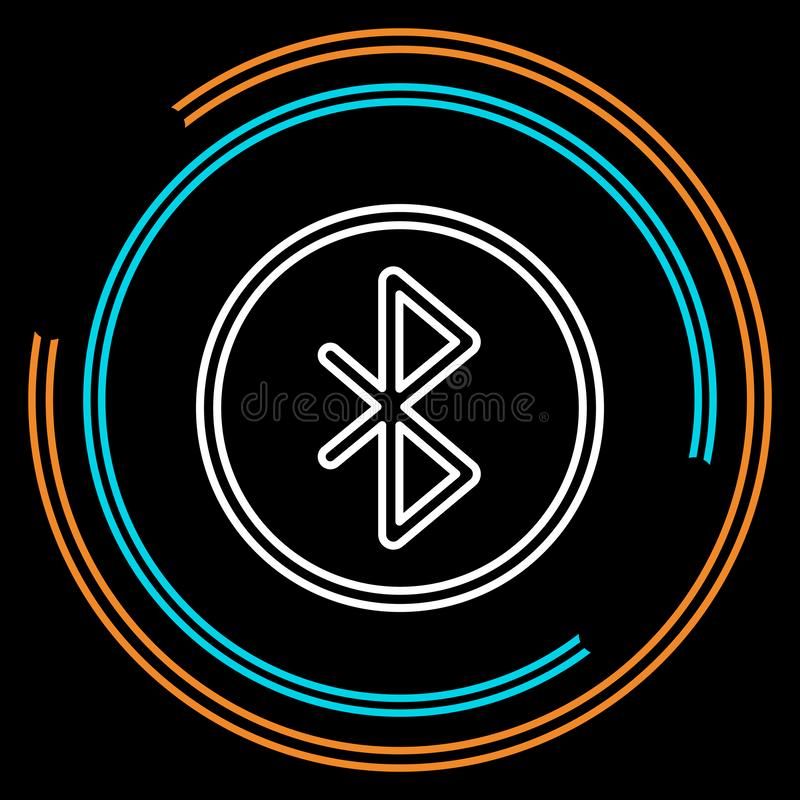 Simple Bluetooth Thin Line Vector Icon vector illustration