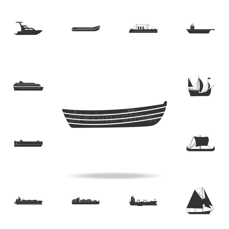 Simple boat icon. Detailed set of water transport icons. Premium graphic design. One of the collection icons for websites, web des. Ign, mobile app on white stock illustration