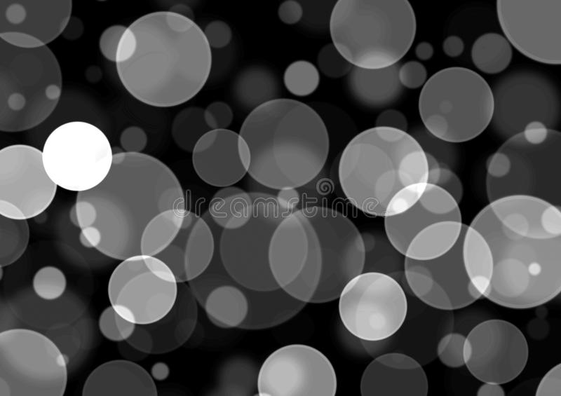 Simple Bokeh Backround -Grayscale stock images
