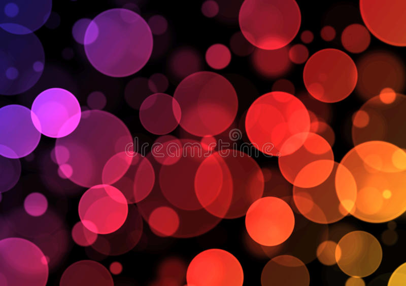 Simple Bokeh Backround -Purple/Red/Yellow stock photography