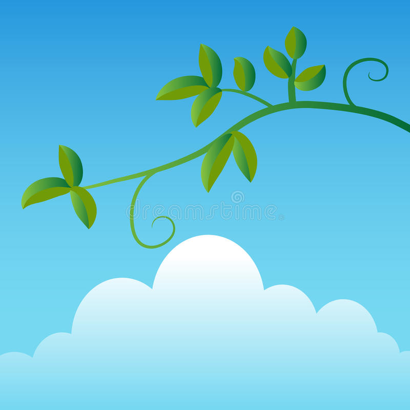 Simple Branch on Sky Background vector illustration