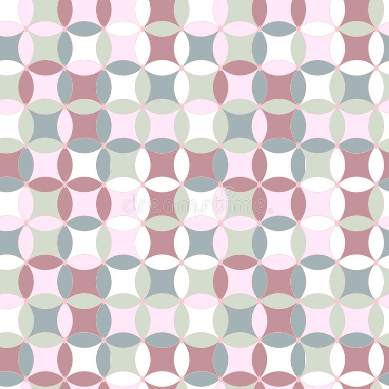 Simple bright pattern for textile or scrapbooking background royalty free illustration