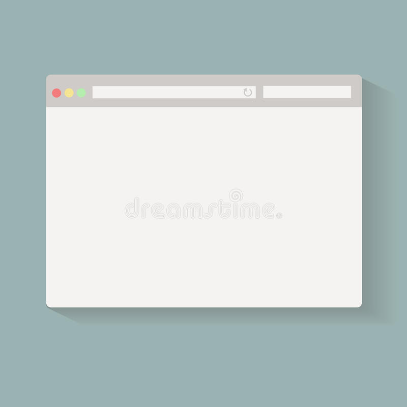 Simple Browser window on blue back ground stock illustration