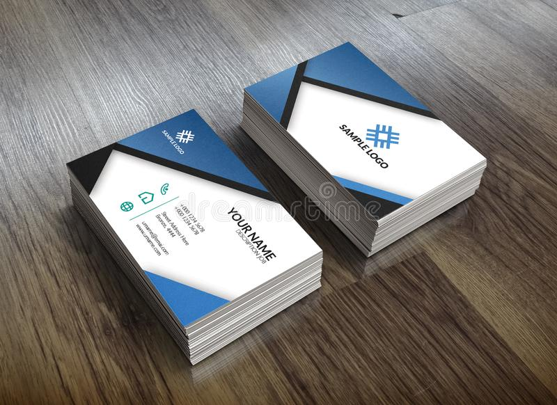 Simple Business Card Design With Shadow effect royalty free stock images