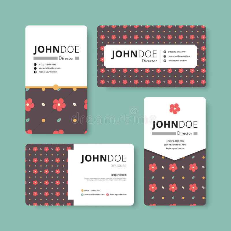 Simple Business Card Template Cover Flyer Leaflet Template - Simple business card template