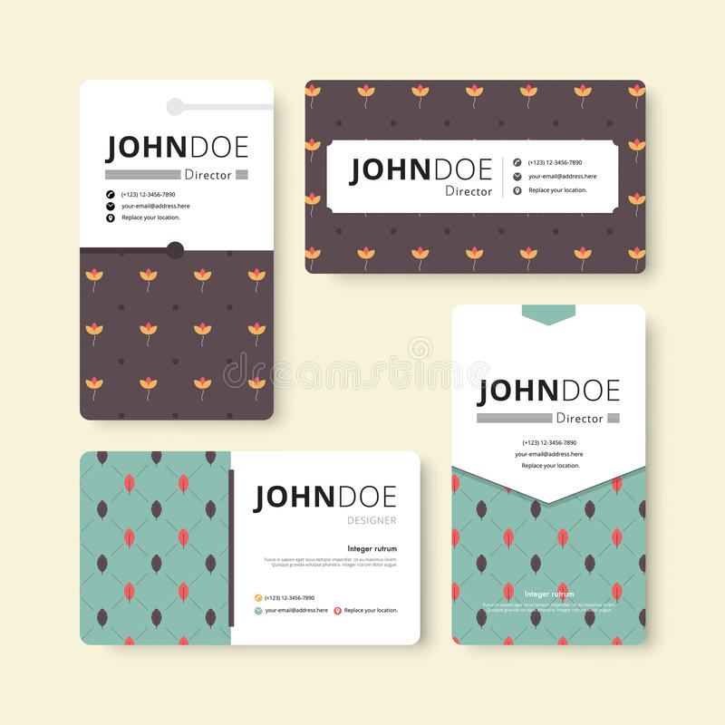 Simple Business Card Template. Cover, Flyer, Leaflet Template ...