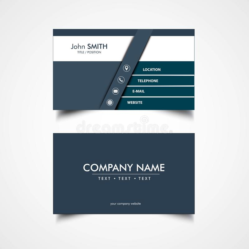Simple Business Card Template. Vector, Illustration stock illustration