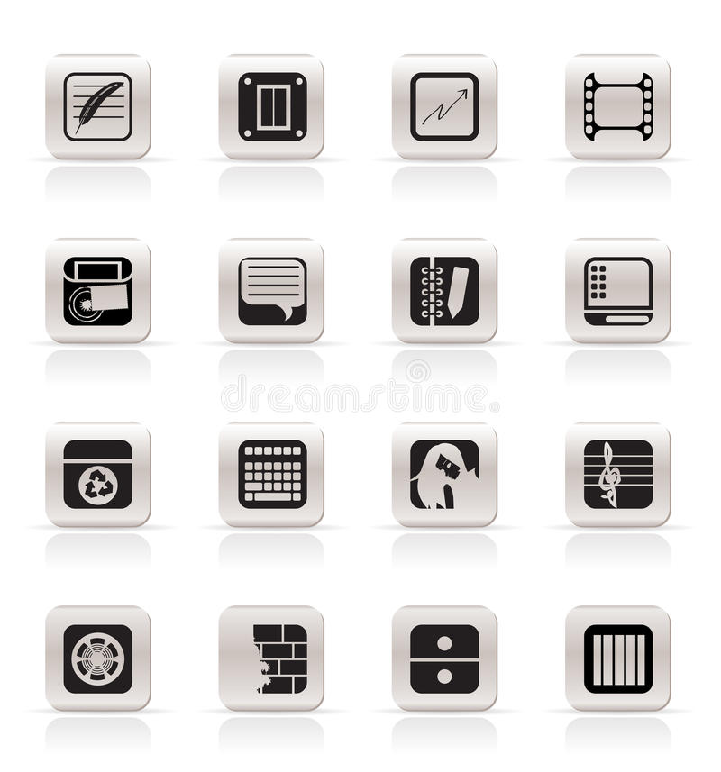 Download Simple Business, Office And Mobile Phone Icons Stock Images - Image: 10952744