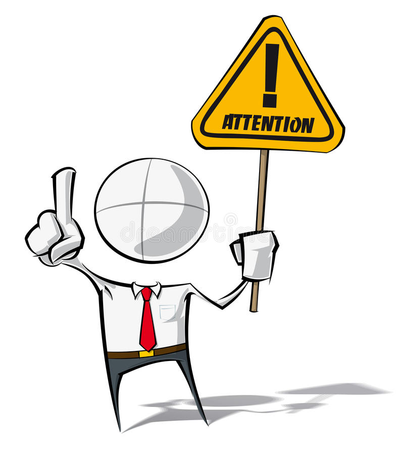 Simple Business People - Attention stock illustration