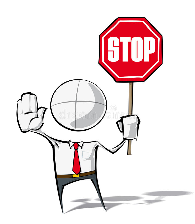 Simple Business People - Stop royalty free illustration