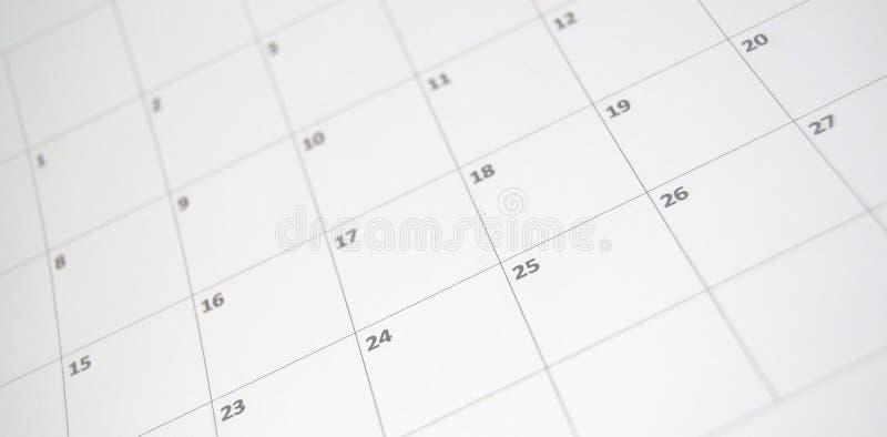 Simple calendar royalty free stock photography