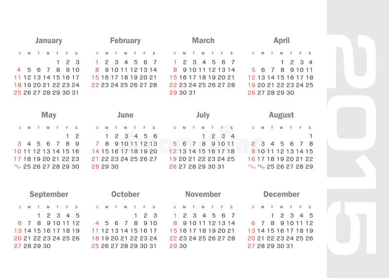 download simple calendar for 2015 year vector stock vector illustration of july business