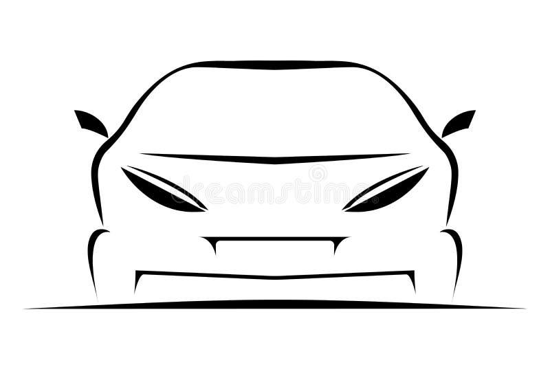 Simple Car icon stock illustration