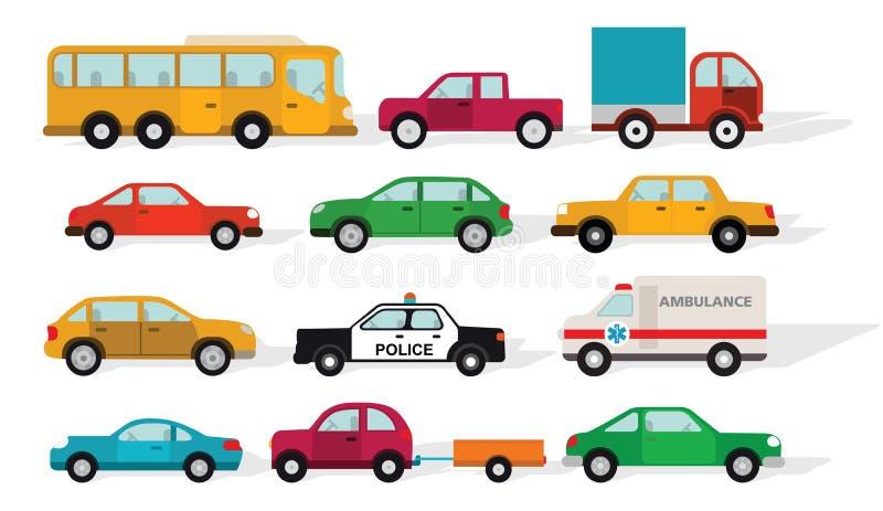 Simple cars stock illustration
