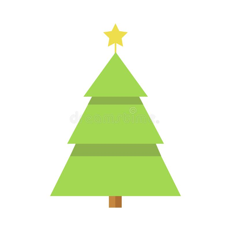 simple cartoon christmas star pine tree stock vector illustration rh dreamstime com vector pine tree illustration vector pine tree branch
