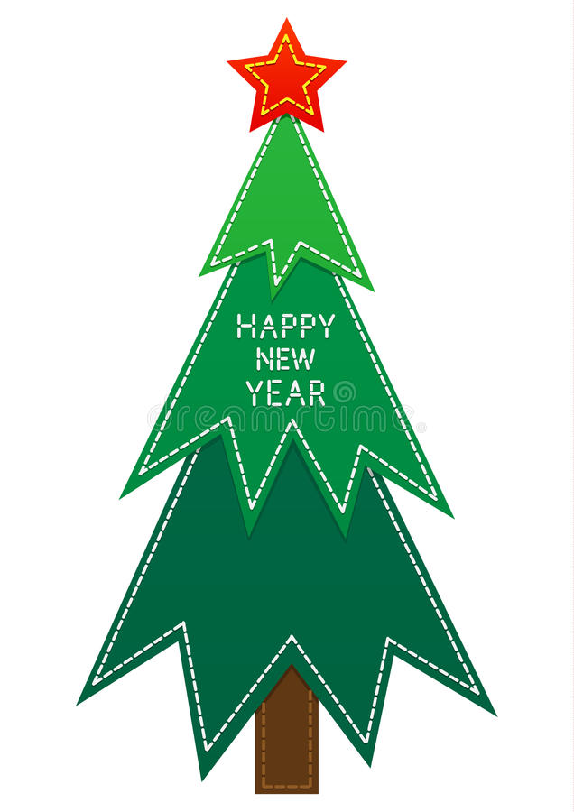 Simple Cartoon Christmas Tree On A White Background Stock Vector Illustration Of Celebration Decoration 82385237 Choose from 290+ cartoon christmas tree graphic resources and download in the form of png, eps, ai or psd. simple cartoon christmas tree on a