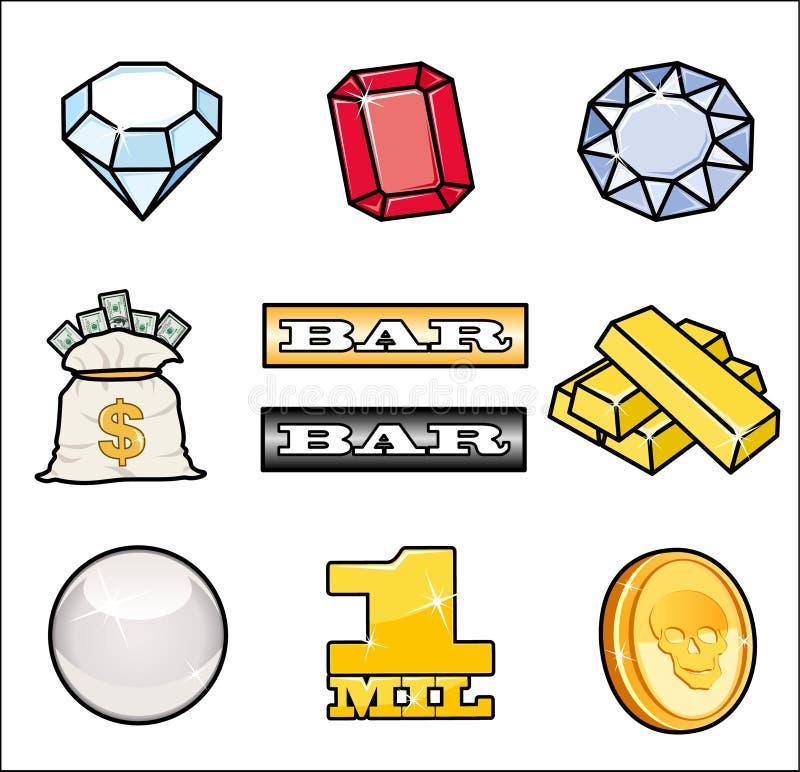 Simple casino icons