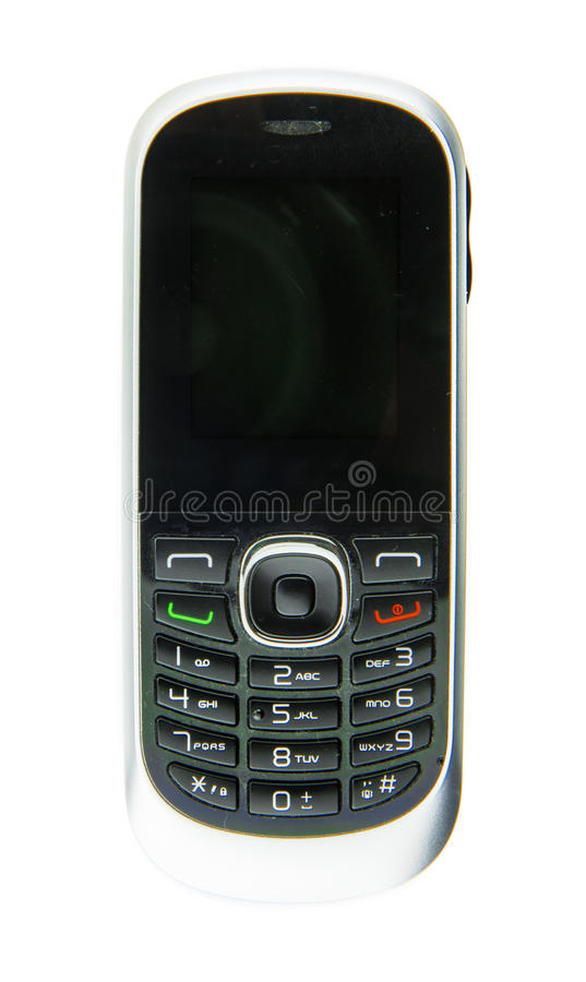 Simple cell phone with buttons royalty free stock images