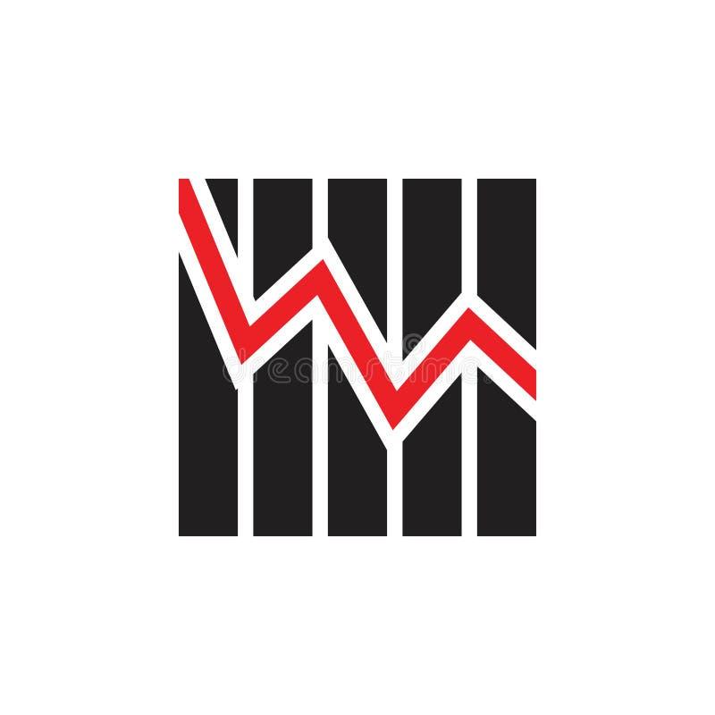 Simple chart line geometric symbol vector. Unique unusual simple luxury elegant design concept stock illustration