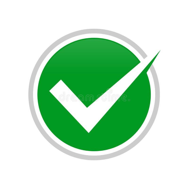 Simple Check Mark Circle Symbol Design. Simple Check Mark Circle Vector Symbol Graphic Logo Design royalty free illustration