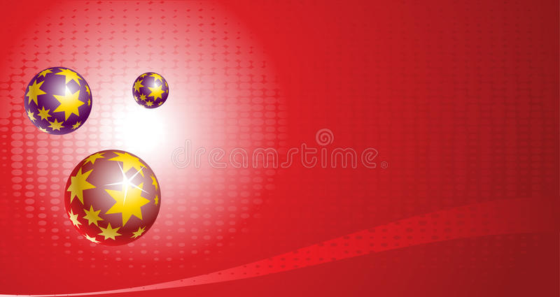 Simple Christmas Banner Royalty Free Stock Photo