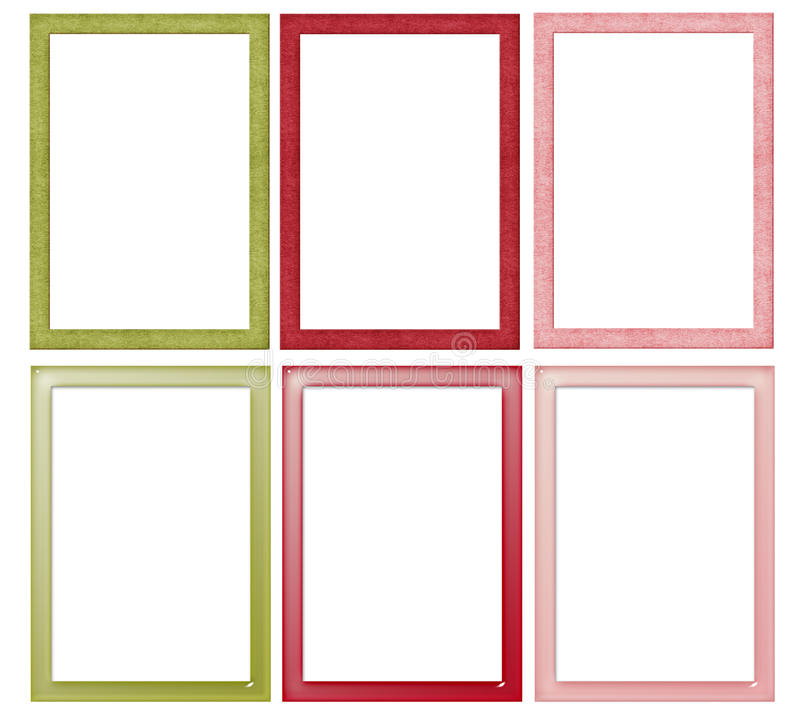 Simple Christmas Colored Frames Stock Illustration - Illustration of ...