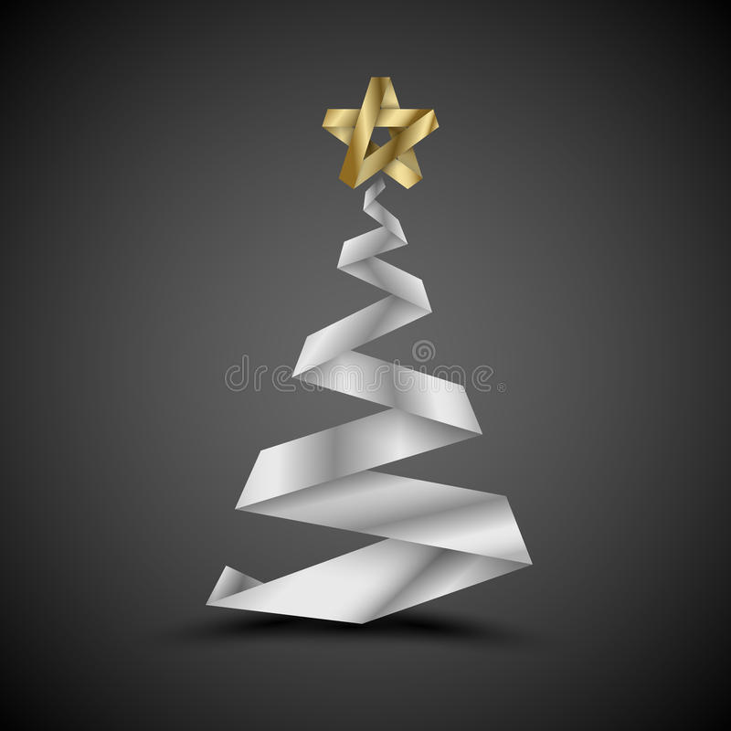 Download Simple  Christmas Tree Made From Metalic Stripe Royalty Free Stock Image - Image: 22210966