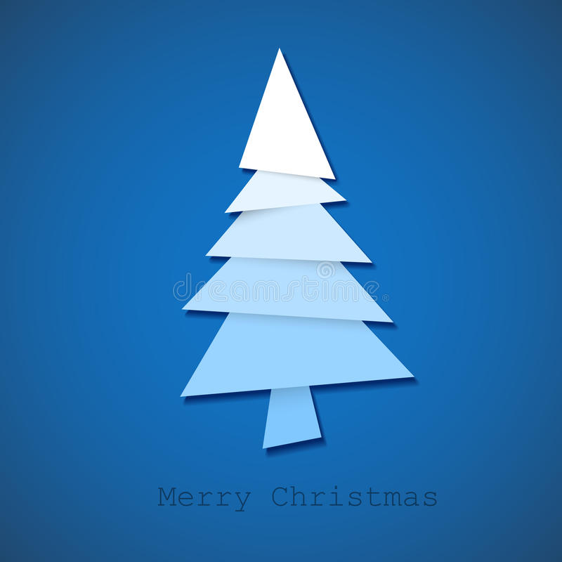 Download Simple  Christmas Tree Made From Paper Stock Illustration - Illustration of cutting, illustration: 21406003