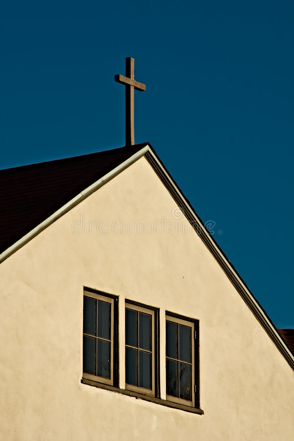 Simple Church with Cross royalty free stock photos