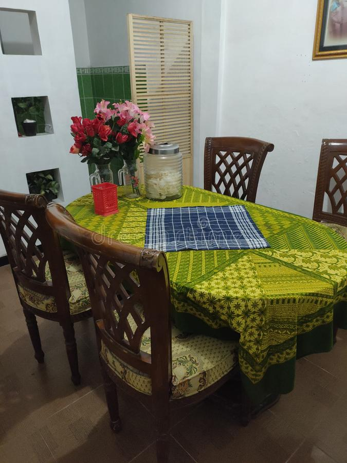 simple and clasic dining room stock image