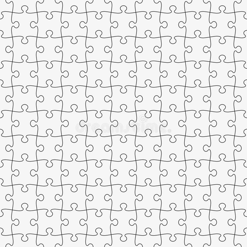 Simple Classic puzzle seamless pattern. stock illustration