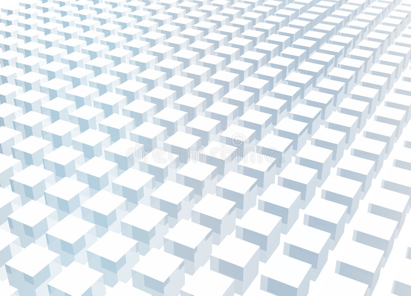 Simple and Clean Block 3d Abstract Background. In Blue vector illustration